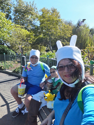 Fionna, Finn and Link take a break