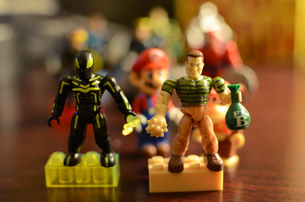 Mega Bloks Stealth Spiderman and Sandman
