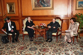 Secretary Clinton Meets With Algerian President Bouteflika
