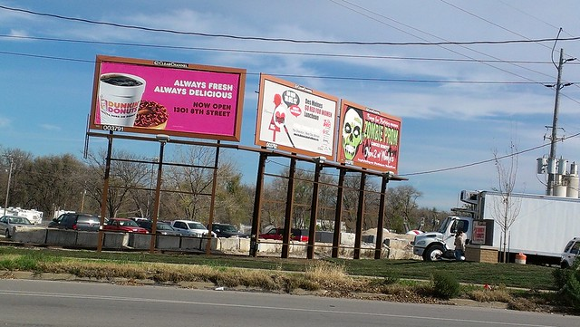Dunkin  Donuts - West Des Moines  Iowa - BillboardDunkin Donuts Billboard