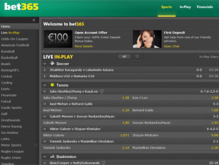 Bet365 Sports Home