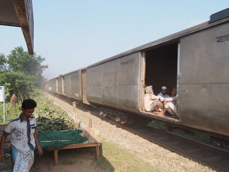 Goods Wagon Carrying Passengers