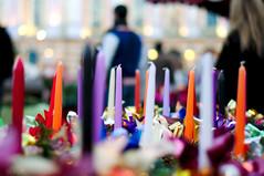 Bougies au marché de Noël de Toulouse