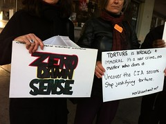 Protesting Zero Dark Thirty in NYC