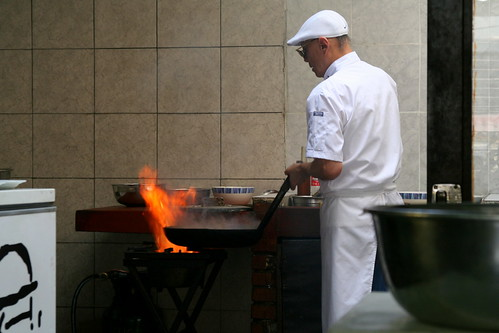 Chef Wong ante el fogón