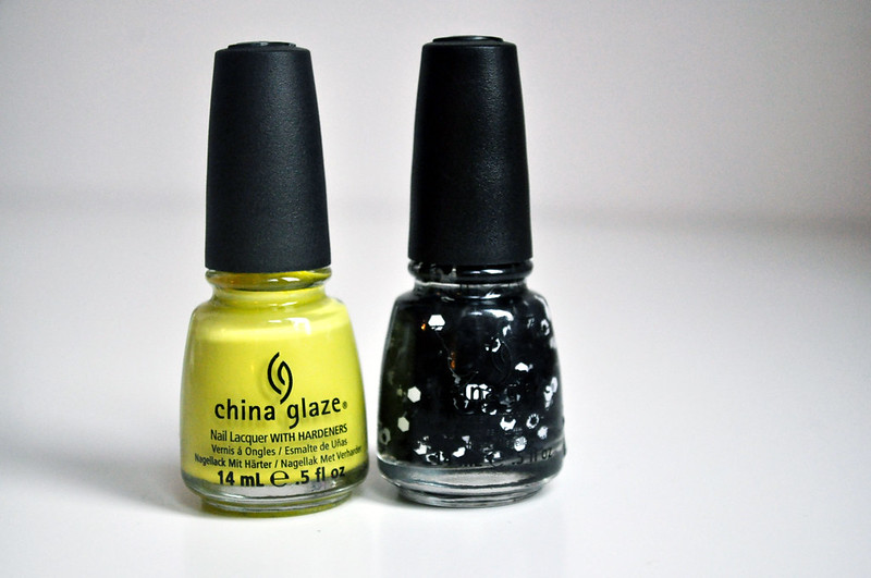china glaze electric pineapple whirled away nail polish notd 1