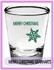 merry christmas to all shot glass