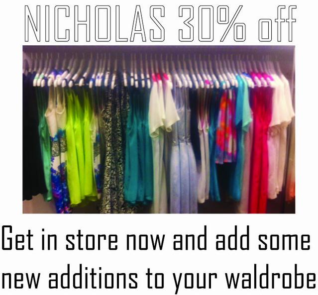 Nicholas sale