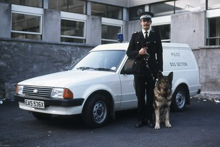 Northern Constabulary early livery - Ford Escort Dog Van