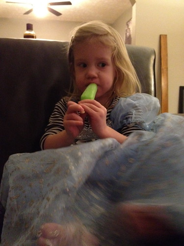 popsicle and princess dress