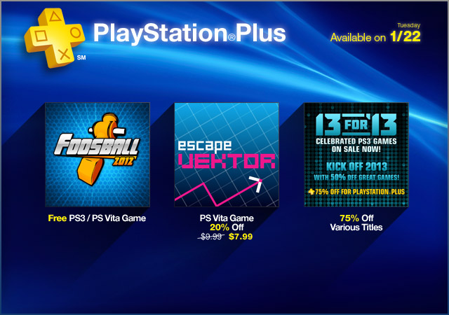 PlayStation Store Update 1-22-2013