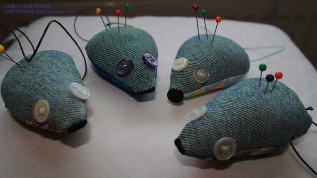 Mice pincushions