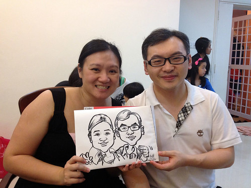 caricature live sketching for birthday party 14072012 - 6