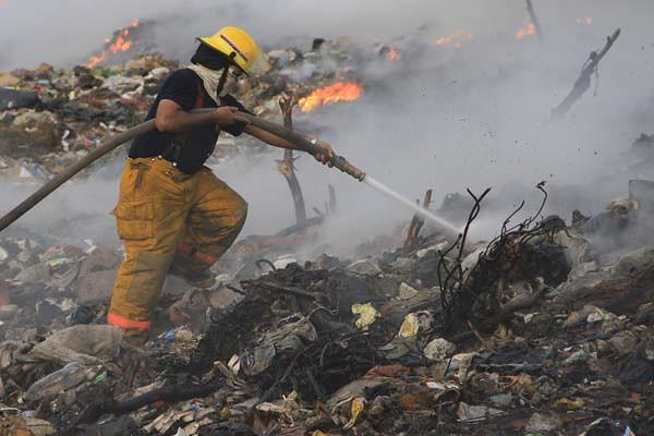 incendio en el relleno sanitario (1)
