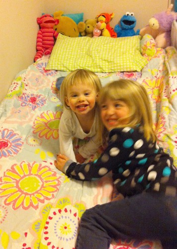 New big-girl bedding is both Lucy and Catie-approved.