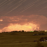 12. Juuli 2016 - 23:48 - This composite consists of 81 stacked images.  Some moonlight enhances foreground as nearly stationary thunderstorm over northern Colorado allows for this unique perspective of the inner workings of a large thunderstorm cell.  The road sign seems appropriate; warning anyone to procede towards this extreme weather.  A timelapse for this composite can be viewed at:  www.flickr.com/photos/79387036@N07/28211846161/in/datepos...