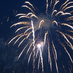 Riverfest Fireworks Display in the capital city of Hartford Connecticut