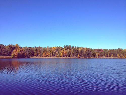 fall vintage lakeside