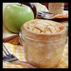 Mini apple pie in a jar