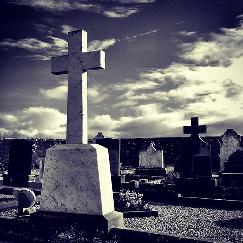 The Casey family grave. #contrast #cross #god #religion #travel #bw #blackwhite #instagood #instamood #landscape #ireland #enniscrone #memories
