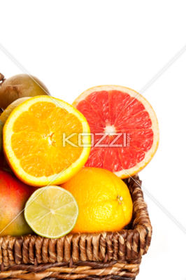 cropped image of sliced fruits
