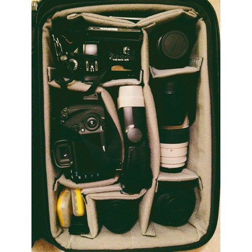 Packed and ready to shoot a wedding today!