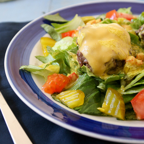 Cheeseburger Salad with Yellow Mustard Vinaigrette Leave a comment