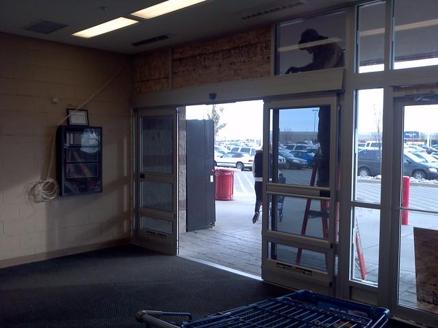New automatic sliding doors at preston crossing walmart