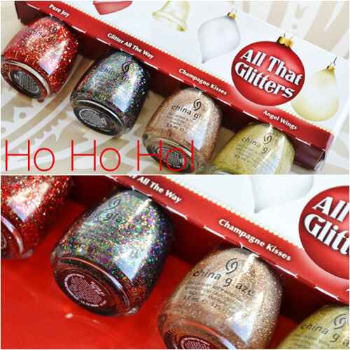 China Glaze Holiday All That Glitters 2012 set