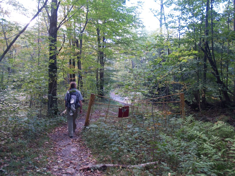 The Trailhead Gate on the Diamond Notch Trail