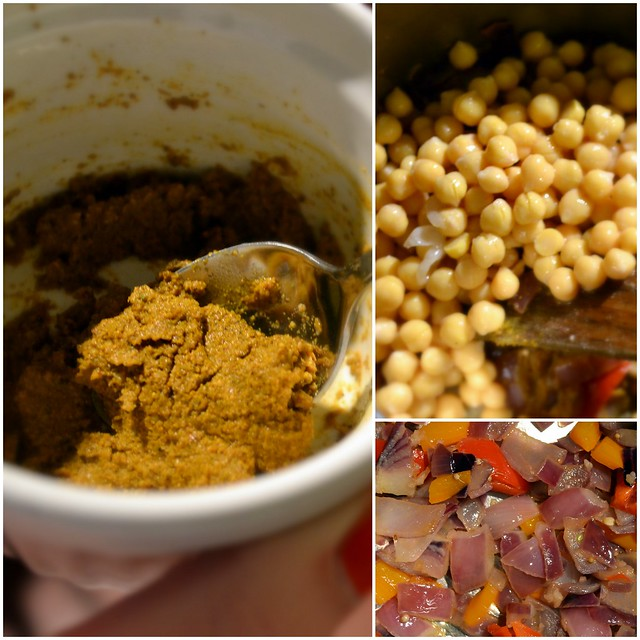 Chick pea curry collage