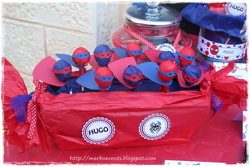 Super Hero Pops. Kit de fiesta spiderman. Merbo events