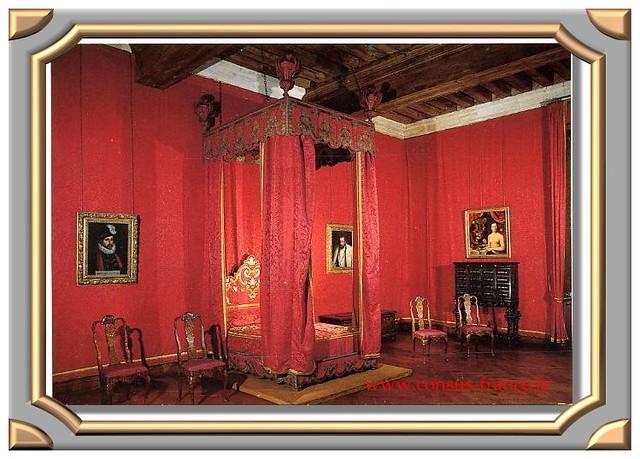 Azay-le-Rideau - Le château - La chambre rouge -70-150