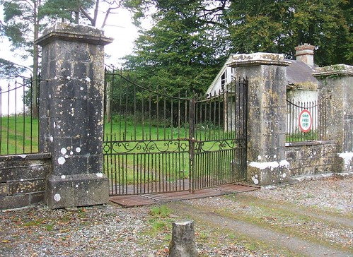 Newpass House, Rathowen, Westmeath - wrought iron gates (late 18th century)