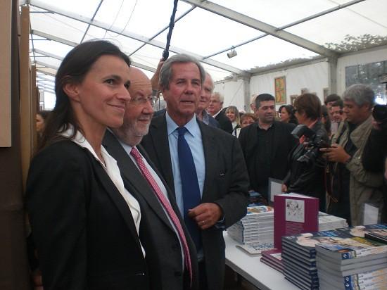 Aurélie Filippetti et Jean-Louis Debré au Livre sur la Place