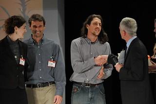 WOOF receive their award