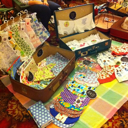 All set up and ready to sell at the Suitcase Rummage!