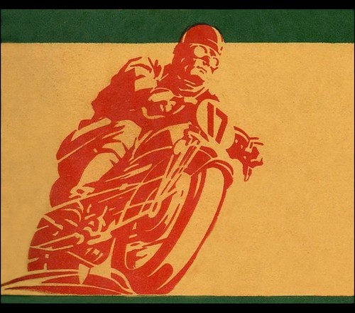 1930's racing graphic by bullittmcqueen