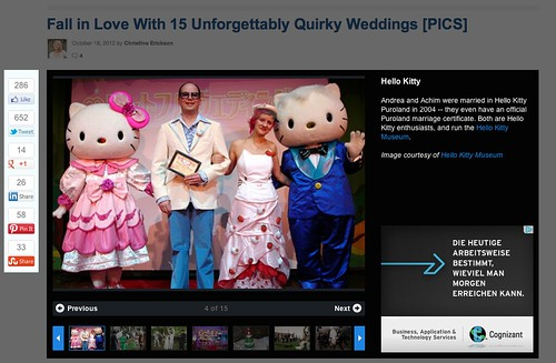 Our Wedding Featured on Mashable.com