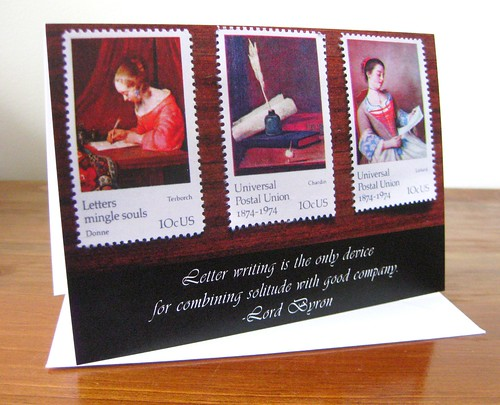Notecards: Solitude and good company / Lord Byron letter-writing quote