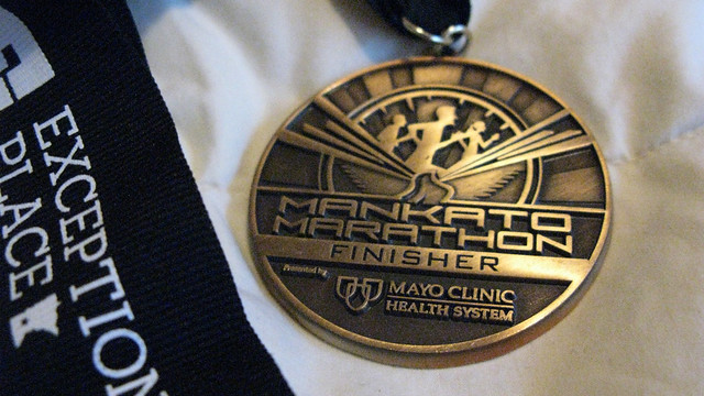 2012.10.21 - Mankato Marathon 2012 finisher medal