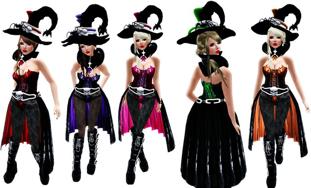 Fierce Gothic Witch black  (Sexy witch costume)2