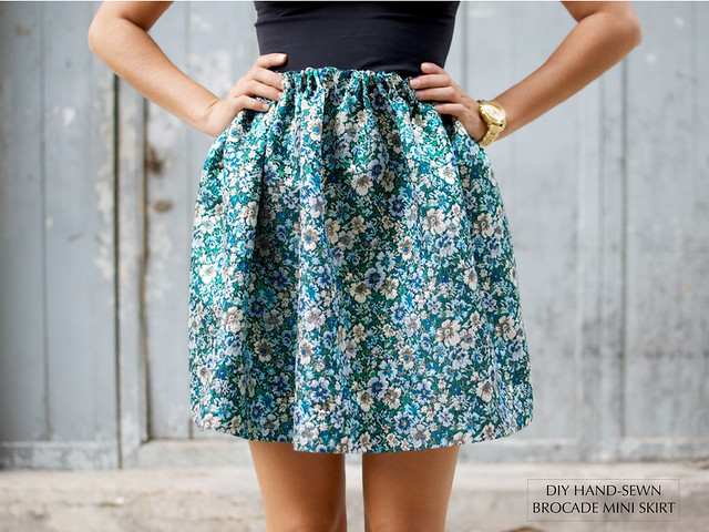 DIY HAND SEWN BROCADE SKIRT