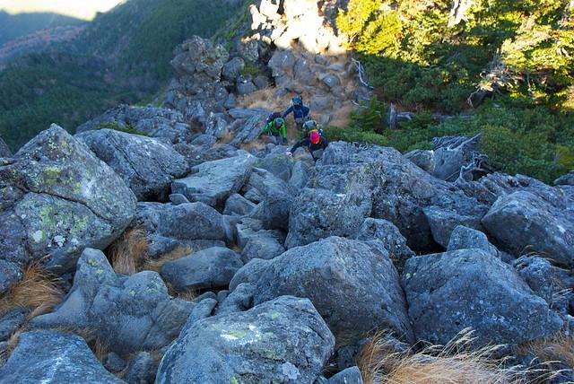 岩が多い地帯