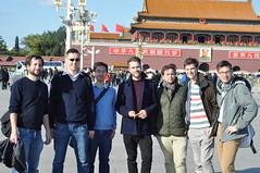 JuLi-Delegation in Beijing. Tian\'an men Platz