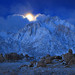 Snowy Moon Lone Pine Peak Alabama Hills by Steve Sieren Photography