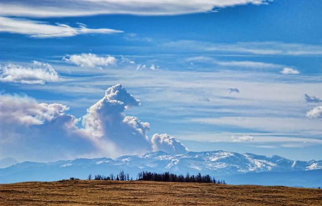 Fern Lake Fire, in Rocky Mountain National Park
