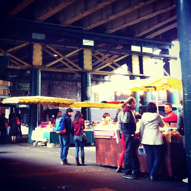 Lunch at Borough Market, our favorite substitute for Columbus' North Market. And a darned good one.