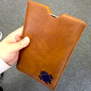 Nexus 7 inside Android Leather Pouch