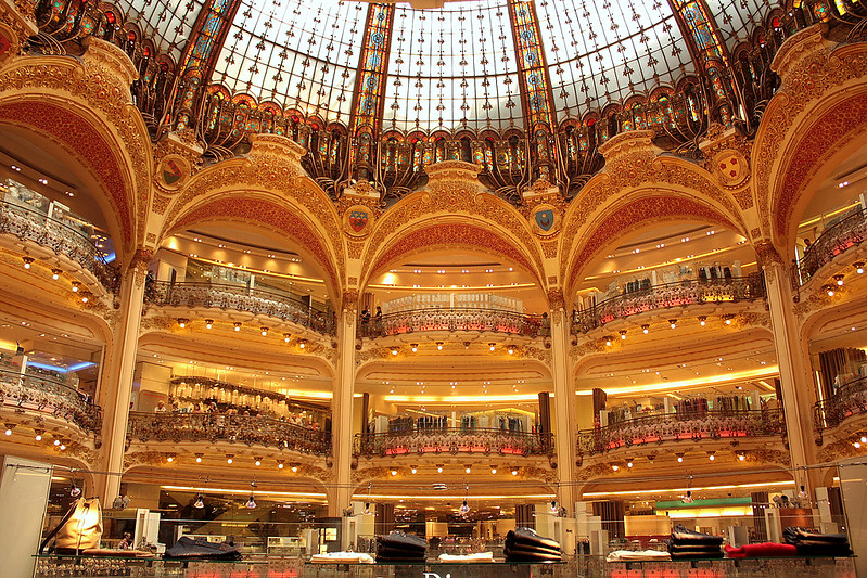 The grand Galeries Lafayette